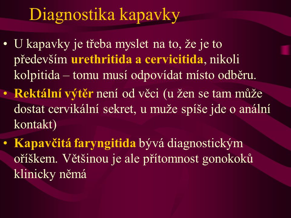 Diagnostika kapavky
