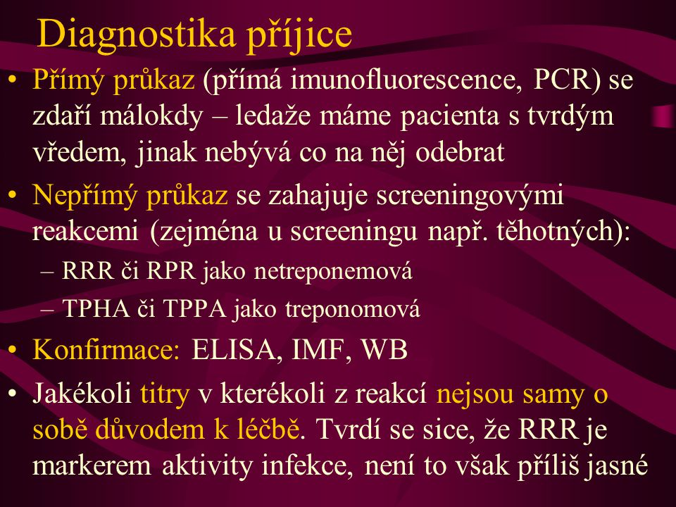 Diagnostika příjice