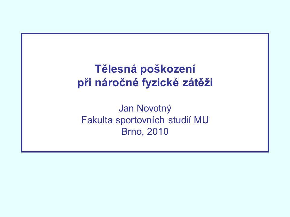 Tělesná poškození při náročné fyzické zátěži Jan Novotný Fakulta sportovních studií MU Brno, 2010