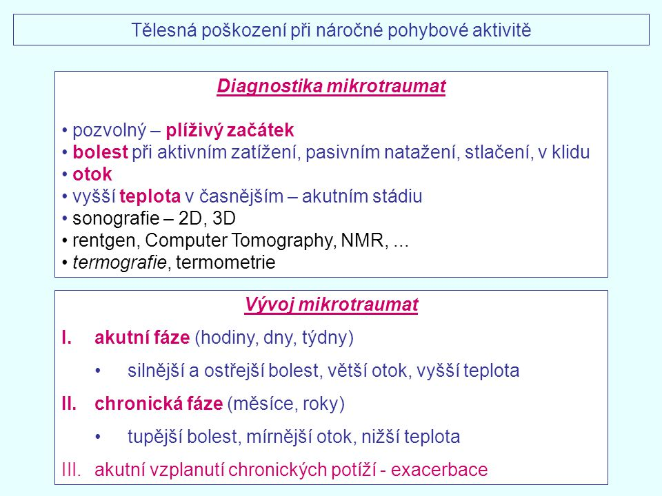 Diagnostika mikrotraumat