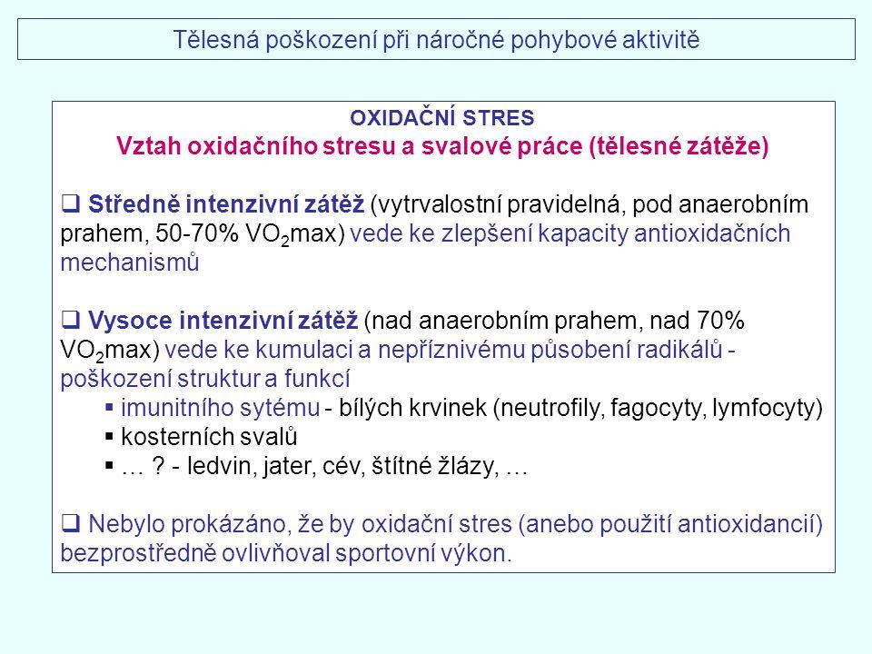 Vztah oxidačního stresu a svalové práce (tělesné zátěže)
