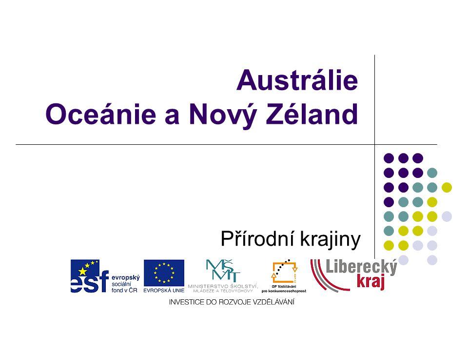 Austrálie Oceánie a Nový Zéland