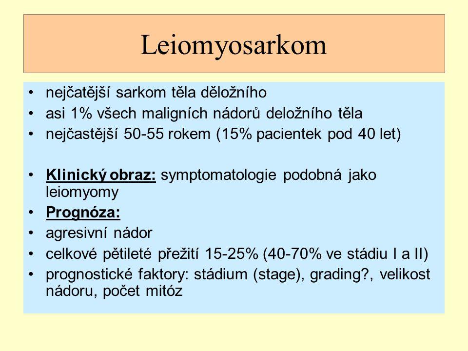 Leiomyosarkom nejčatější sarkom těla děložního
