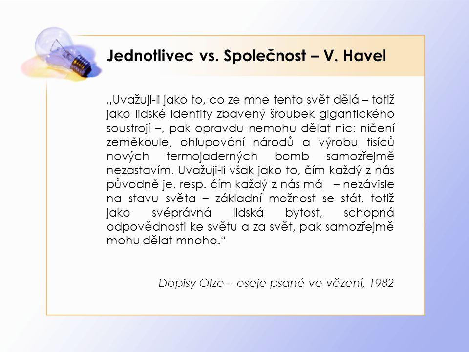 Jednotlivec vs. Společnost – V. Havel