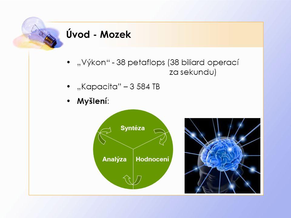 "Úvod - Mozek ""Výkon - 38 petaflops (38 biliard operací za sekundu)"