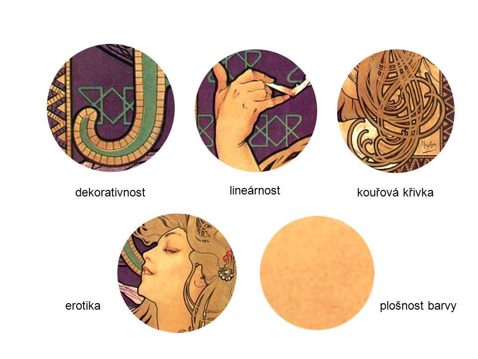 dekorativnost lineárnost kouřová křivka erotika plošnost barvy