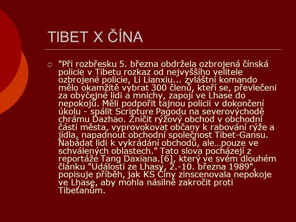 TIBET X ČÍNA