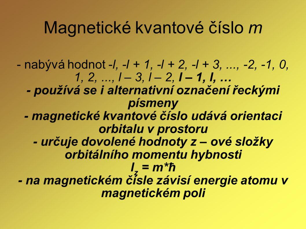 Magnetické kvantové číslo m