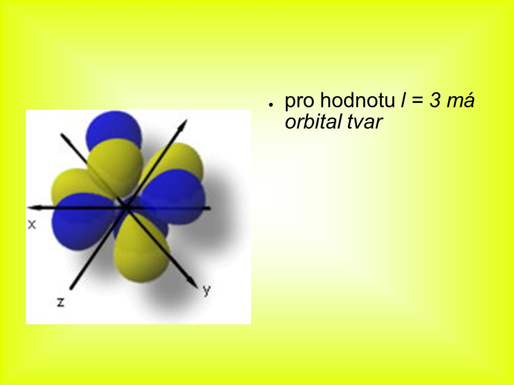pro hodnotu l = 3 má orbital tvar