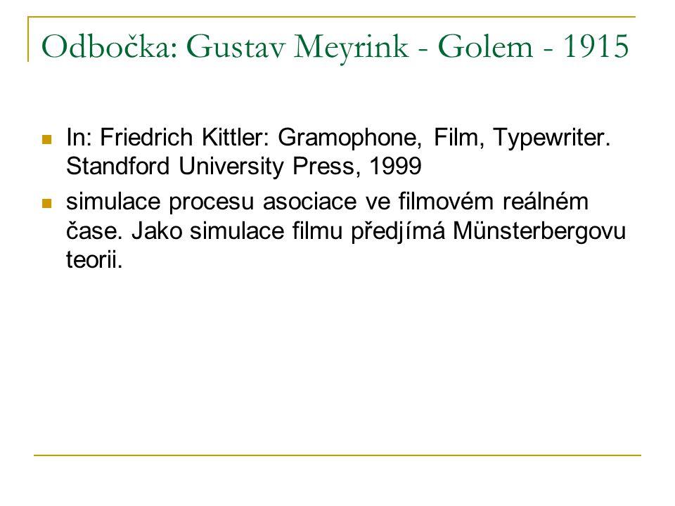 Odbočka: Gustav Meyrink - Golem - 1915