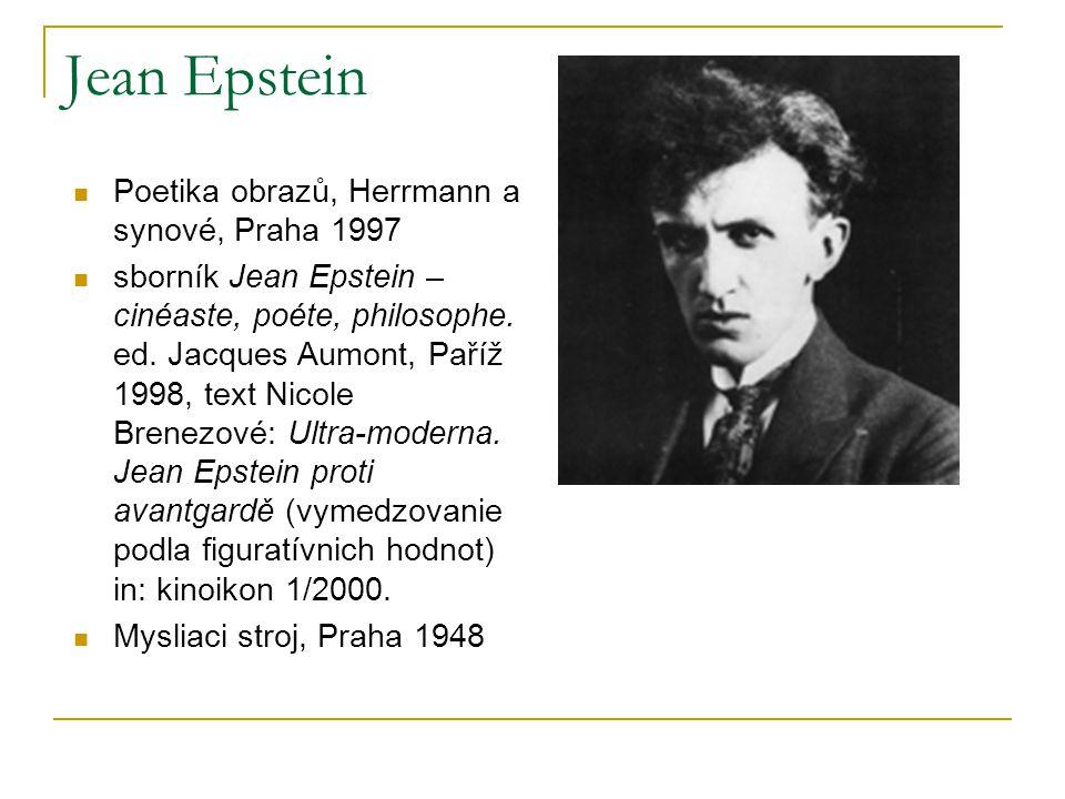 Jean Epstein Poetika obrazů, Herrmann a synové, Praha 1997
