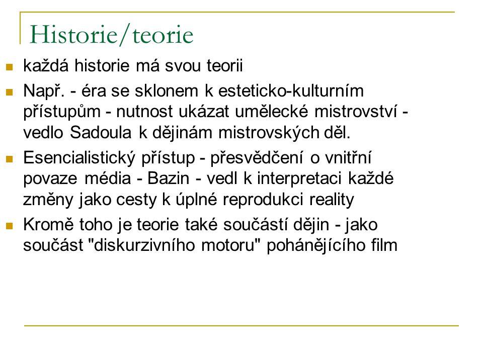 Historie/teorie každá historie má svou teorii