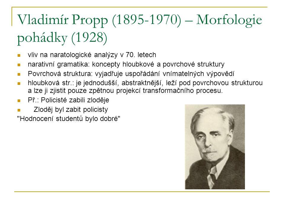 Vladimír Propp (1895-1970) – Morfologie pohádky (1928)