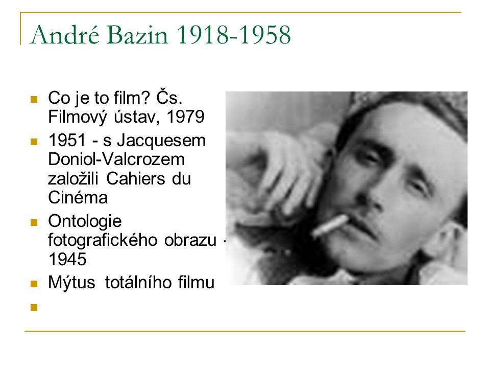 André Bazin 1918-1958 Co je to film Čs. Filmový ústav, 1979