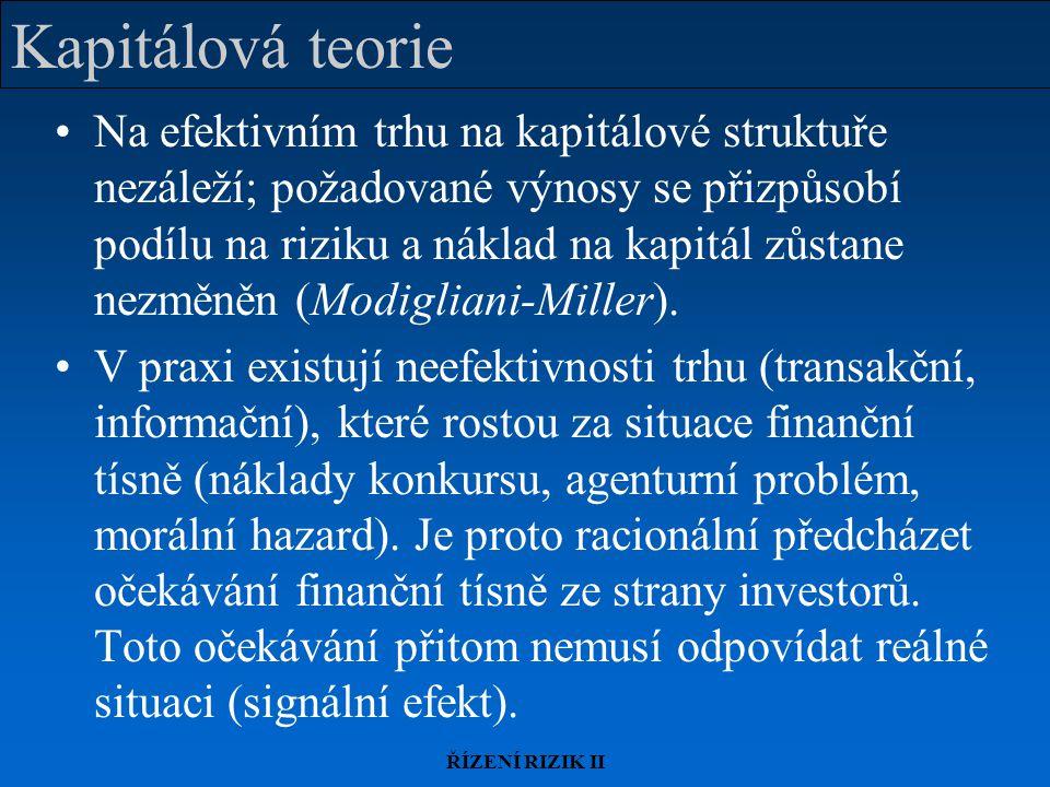 Kapitálová teorie