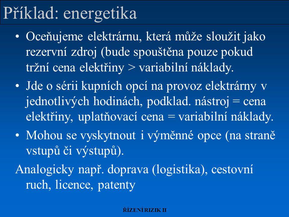 Příklad: energetika