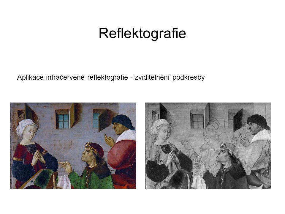 Reflektografie Aplikace infračervené reflektografie - zviditelnění podkresby