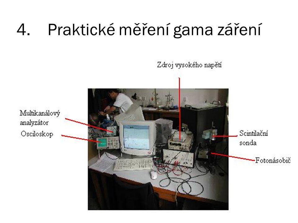 4. Praktické měření gama záření