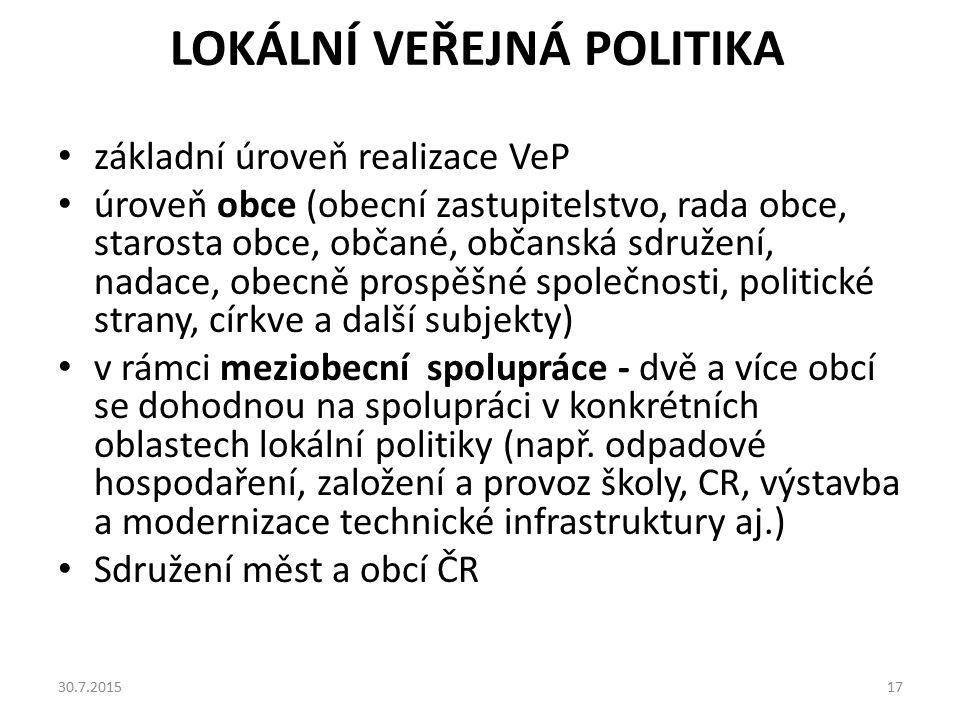 Lokální veřejná politika