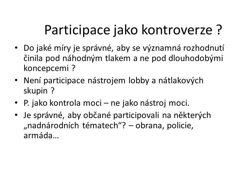 Participace jako kontroverze