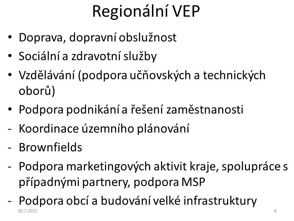 Regionální VEP Doprava, dopravní obslužnost