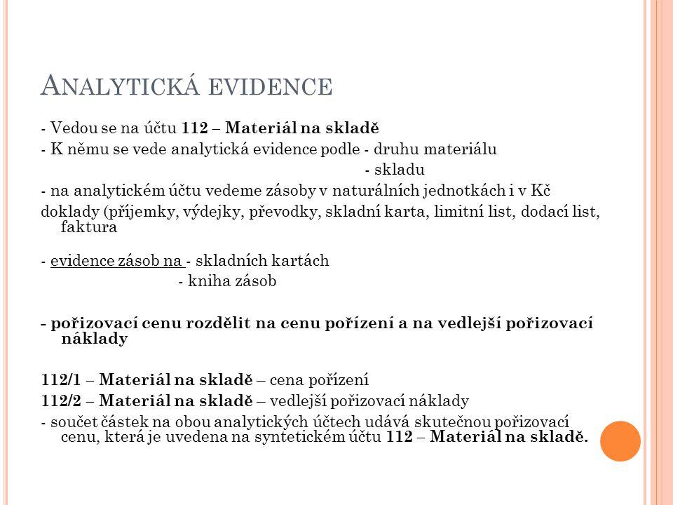 Analytická evidence