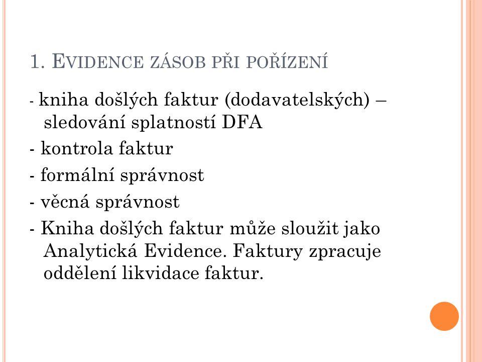 1. Evidence zásob při pořízení