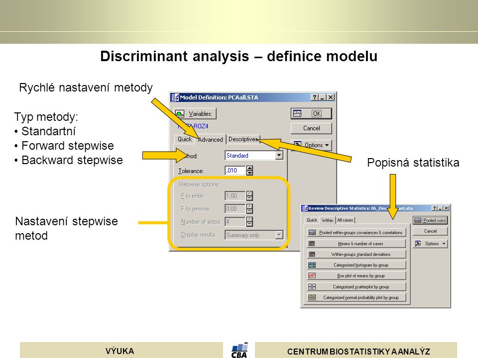 Discriminant analysis – definice modelu