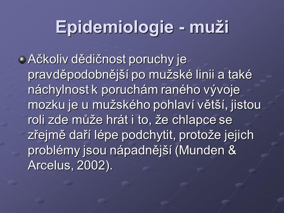 Epidemiologie - muži