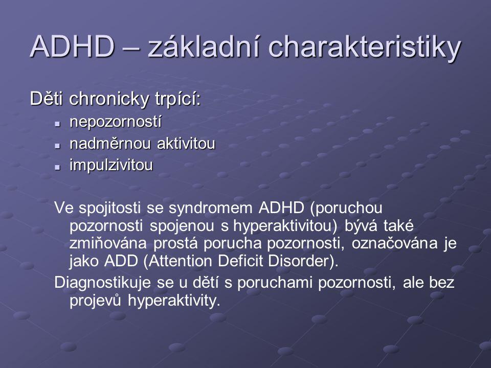 ADHD – základní charakteristiky
