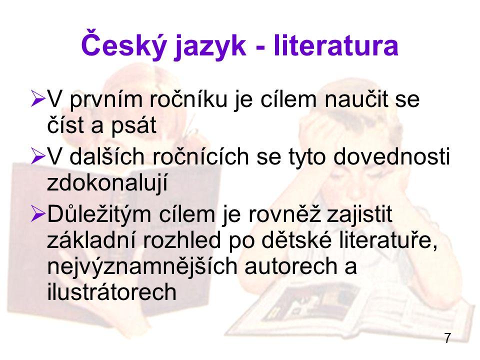 Český jazyk - literatura