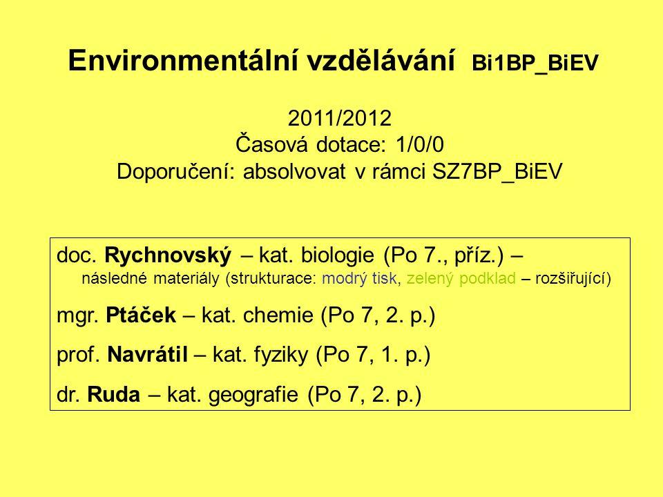 Doporučení: absolvovat v rámci SZ7BP_BiEV