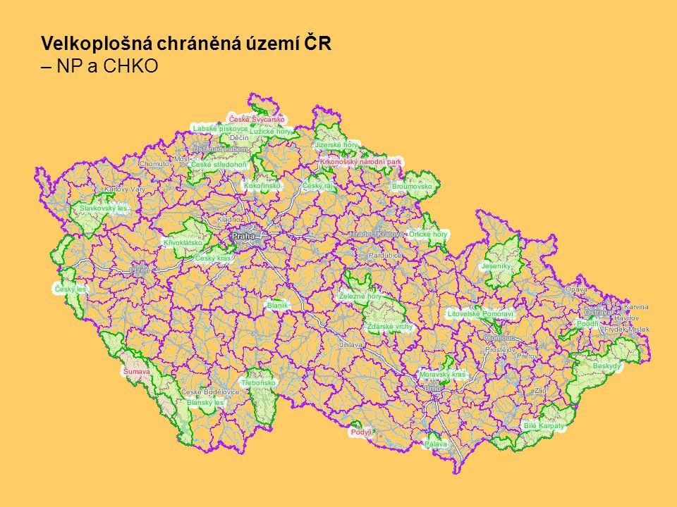 Velkoplošná chráněná území ČR – NP a CHKO