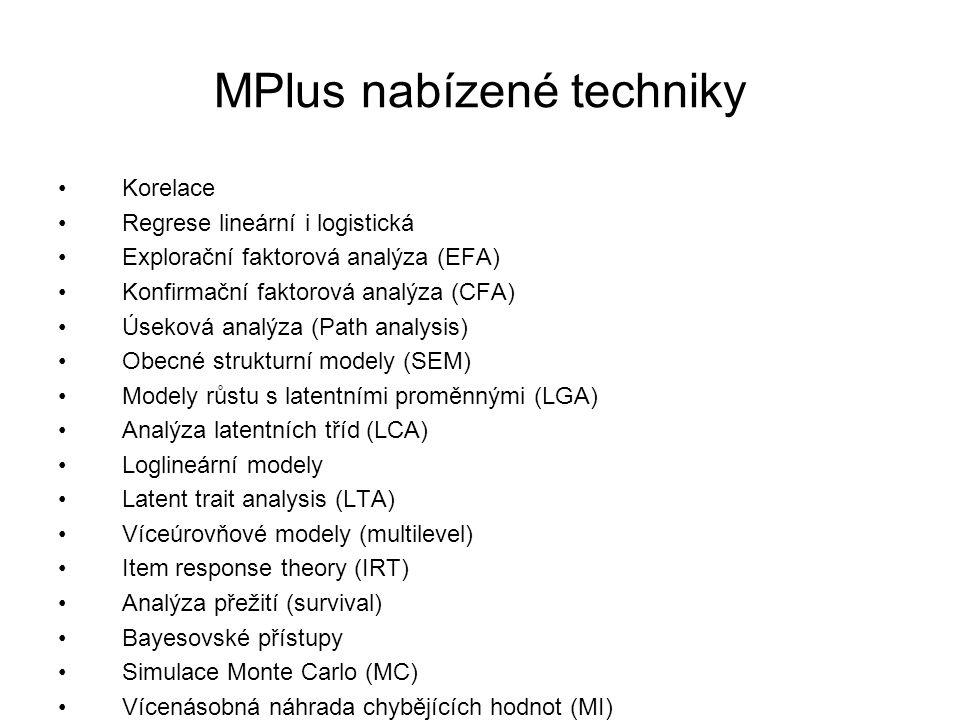 MPlus nabízené techniky