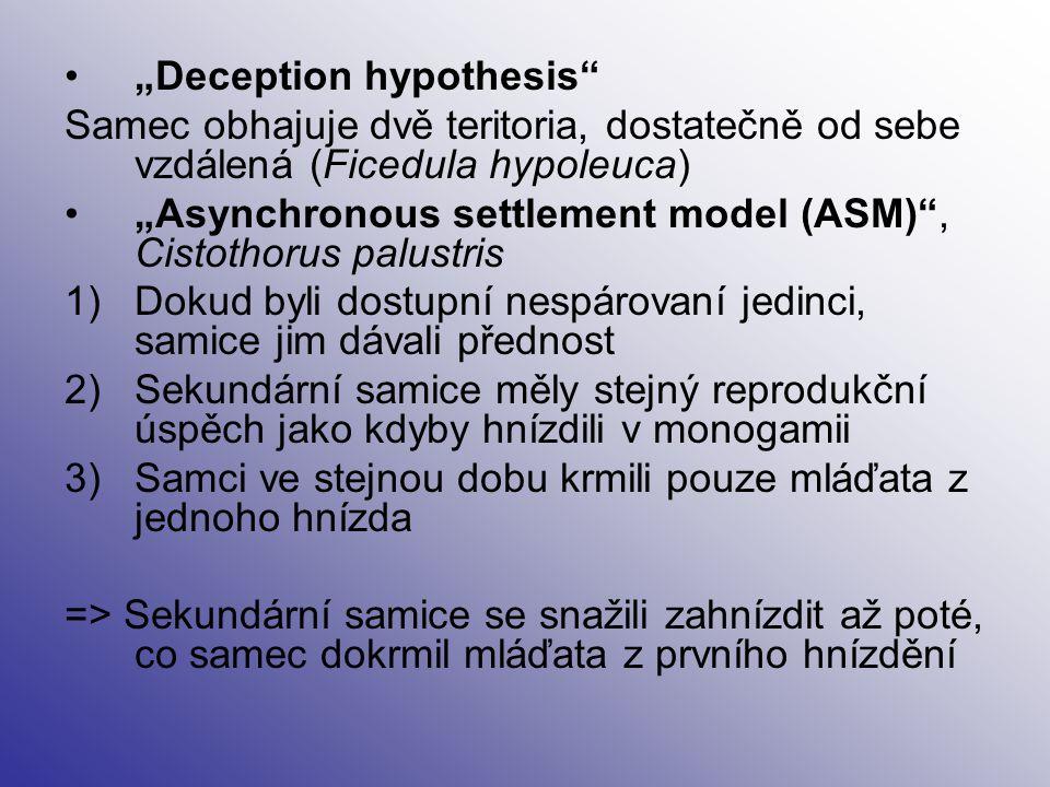 """""""Deception hypothesis"""