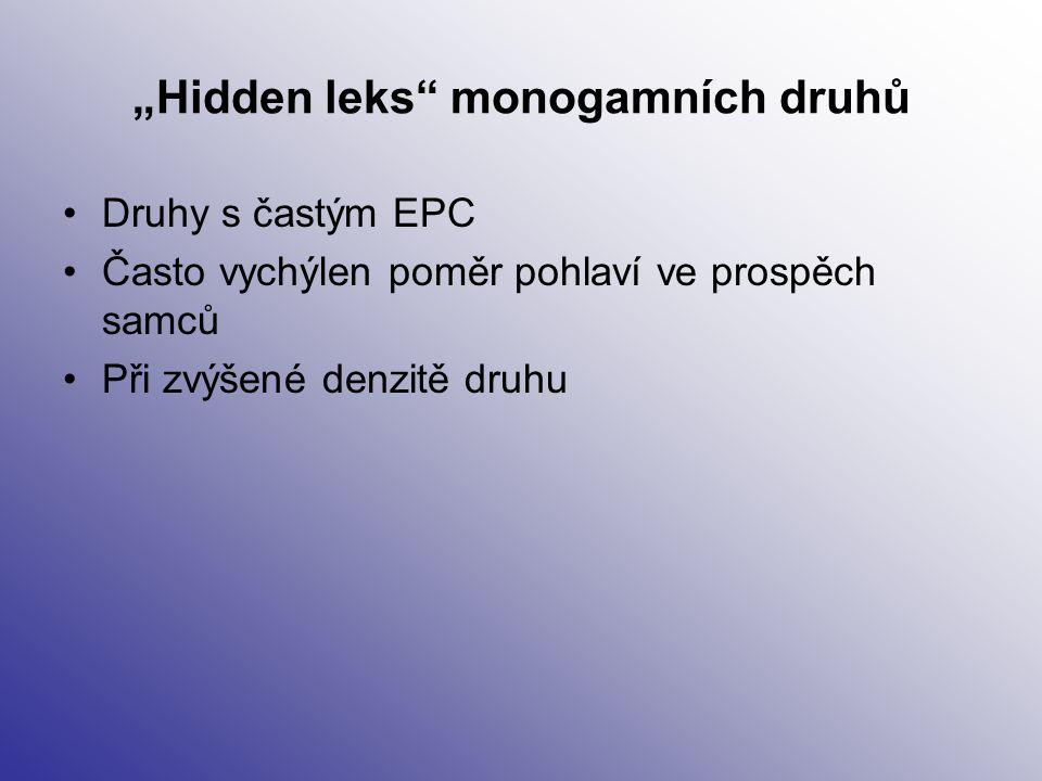 """Hidden leks monogamních druhů"