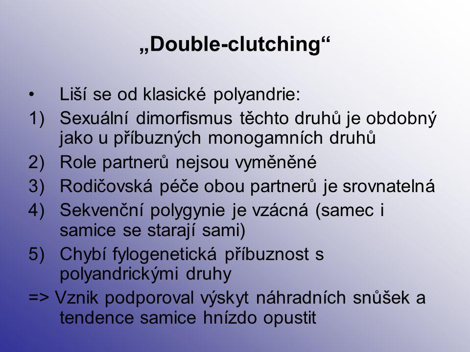 """""""Double-clutching Liší se od klasické polyandrie:"""