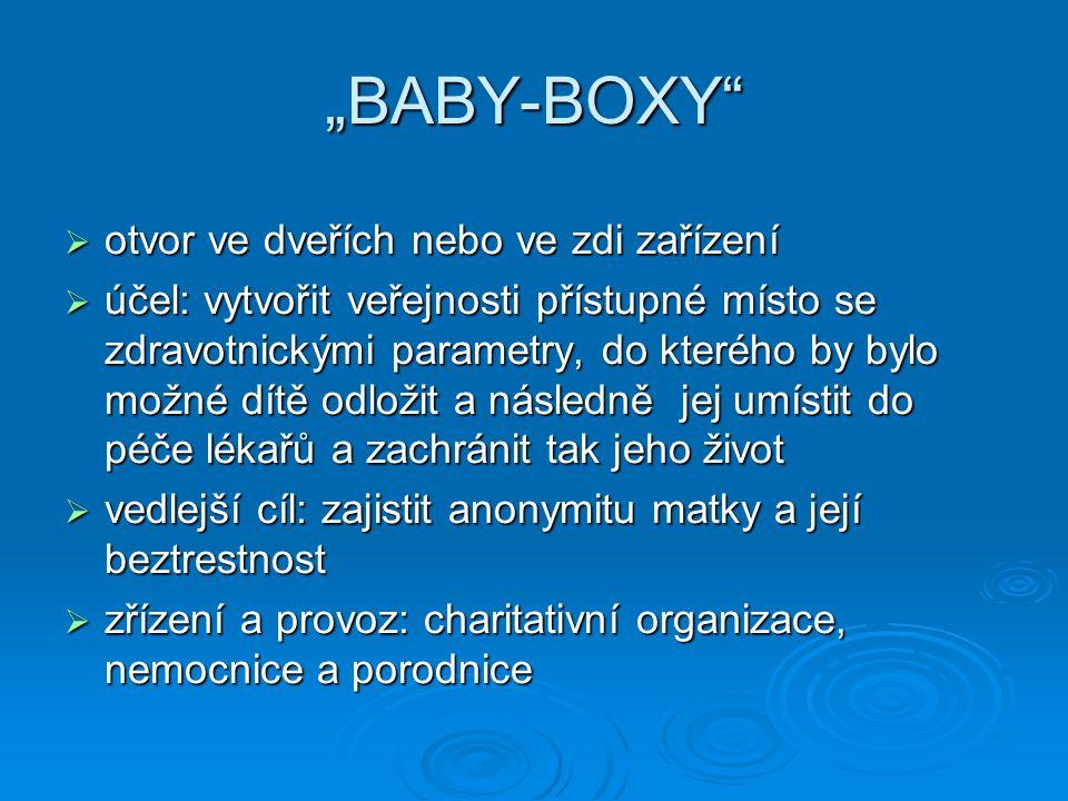 """""""BABY-BOXY otvor ve dveřích nebo ve zdi zařízení"""