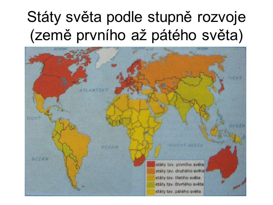 Státy světa podle stupně rozvoje (země prvního až pátého světa)