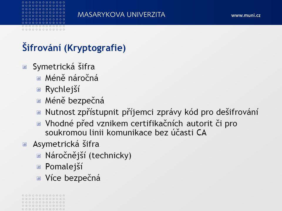 Šifrování (Kryptografie)