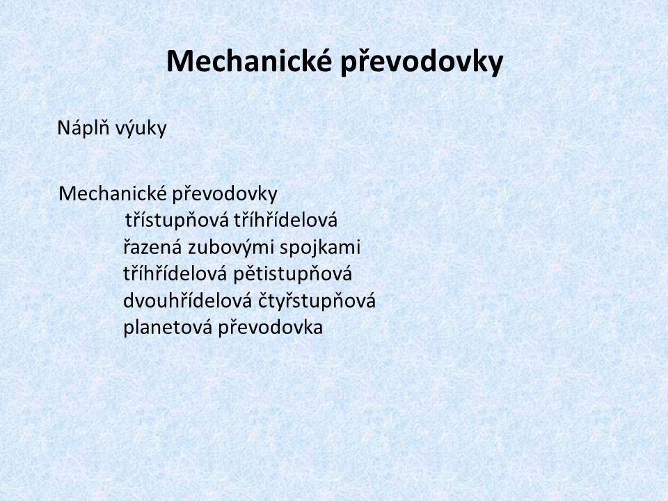Mechanické převodovky