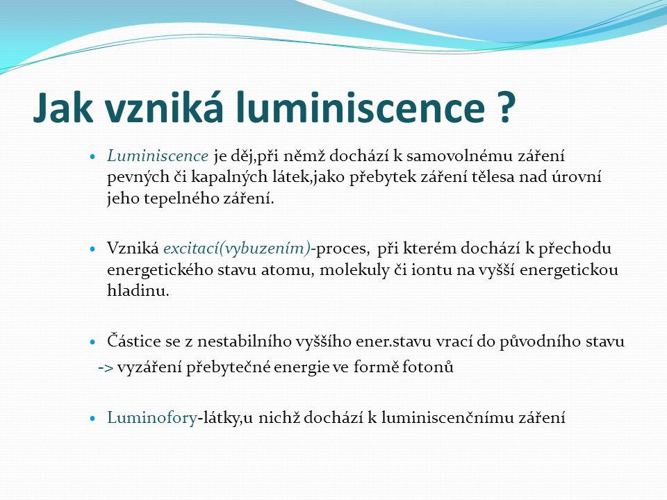 Jak vzniká luminiscence