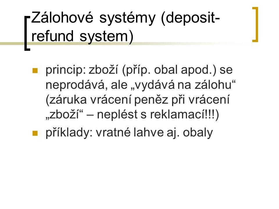 Zálohové systémy (deposit-refund system)