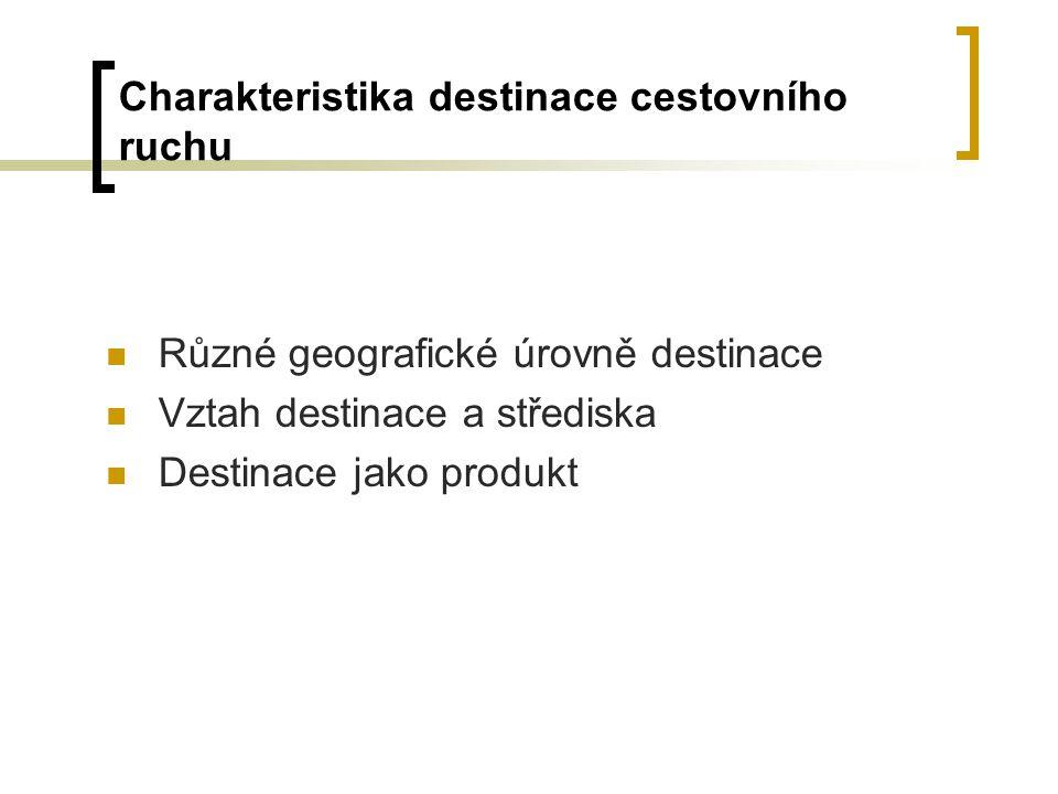 Charakteristika destinace cestovního ruchu