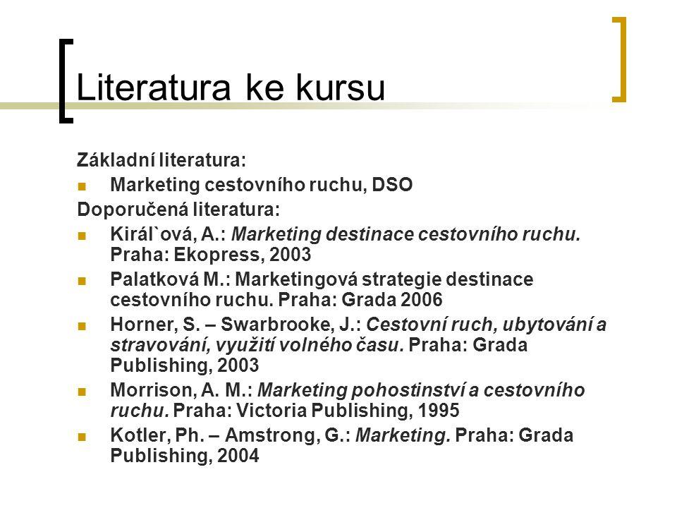 Literatura ke kursu Základní literatura: