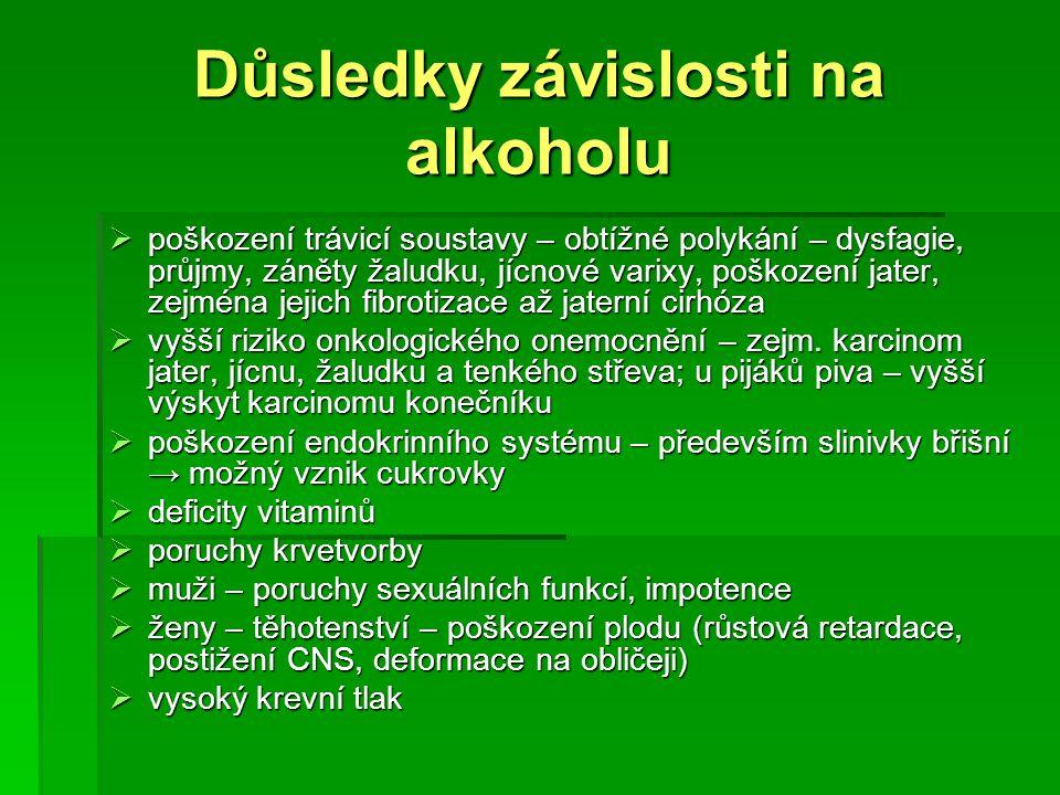 Důsledky závislosti na alkoholu