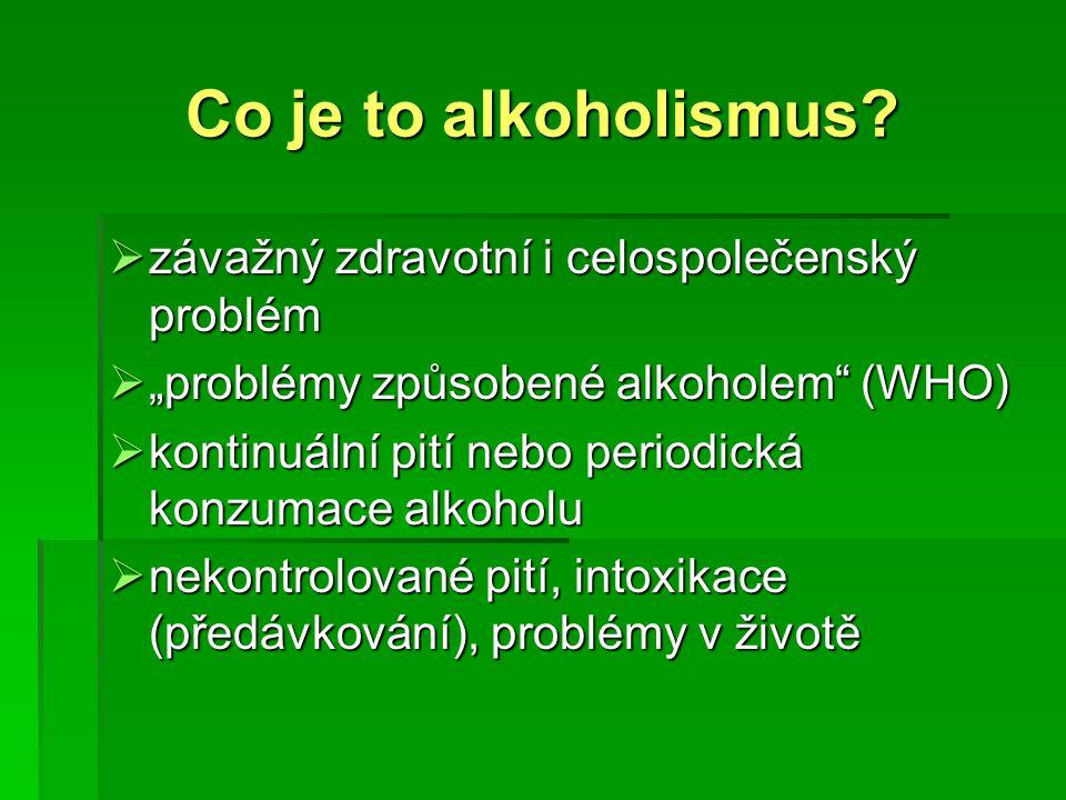 Co je to alkoholismus závažný zdravotní i celospolečenský problém
