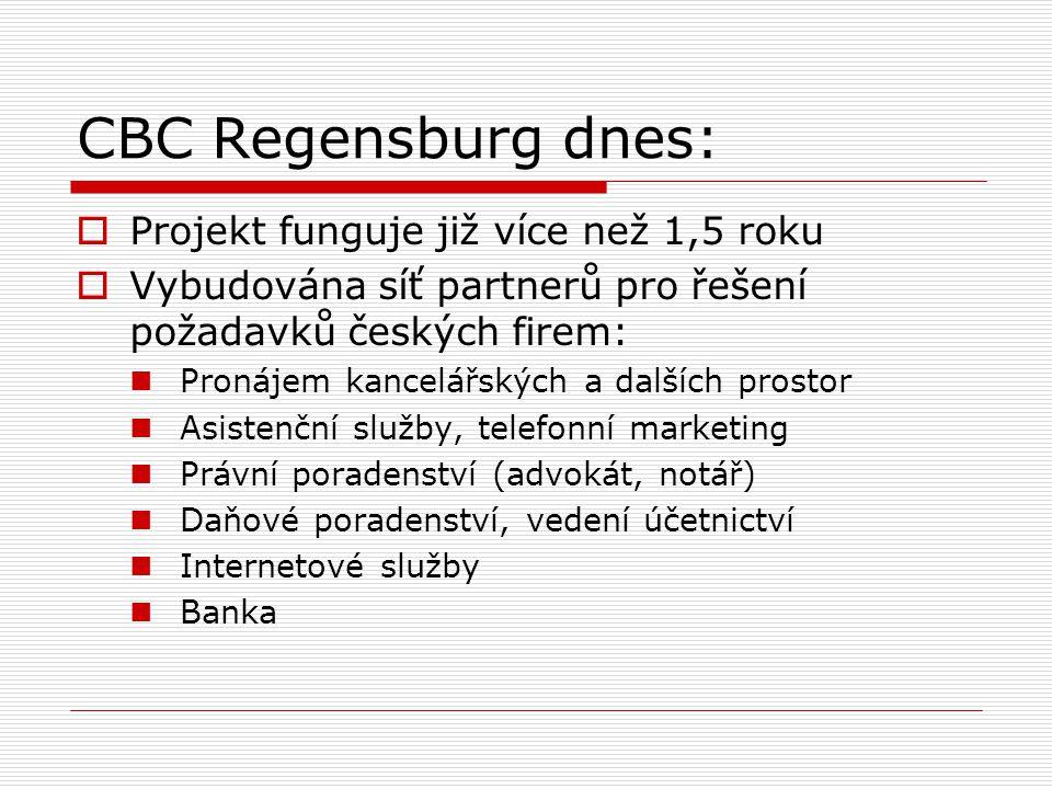 CBC Regensburg dnes: Projekt funguje již více než 1,5 roku