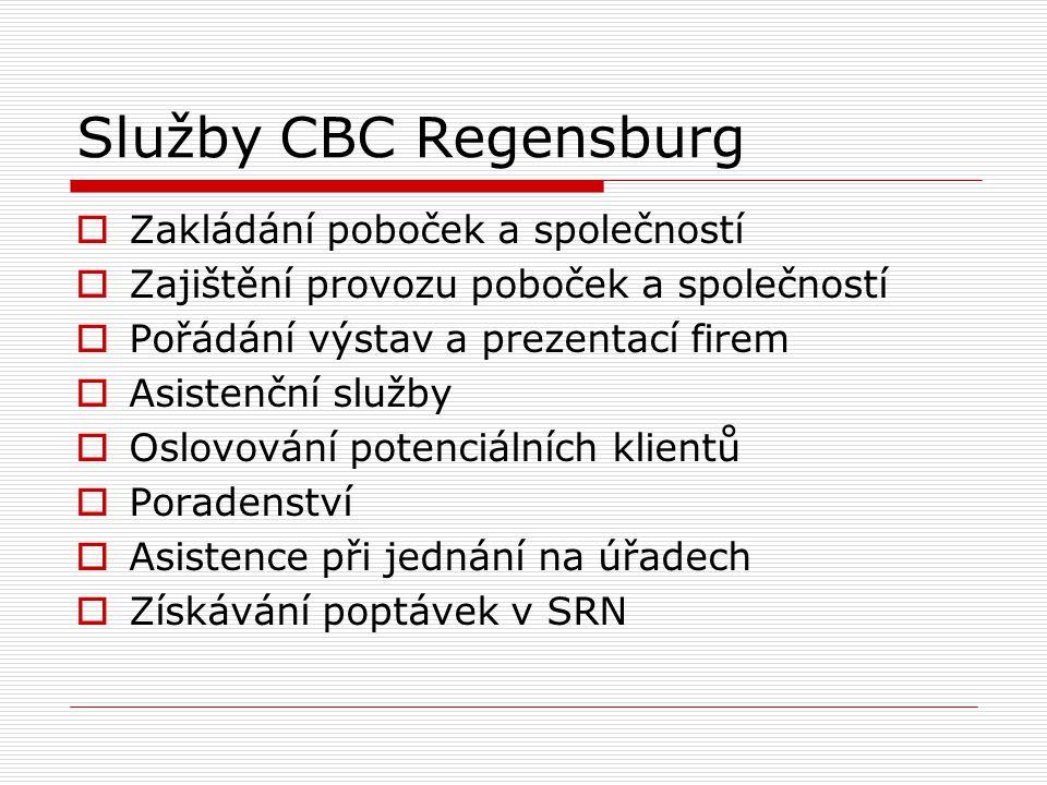 Služby CBC Regensburg Zakládání poboček a společností