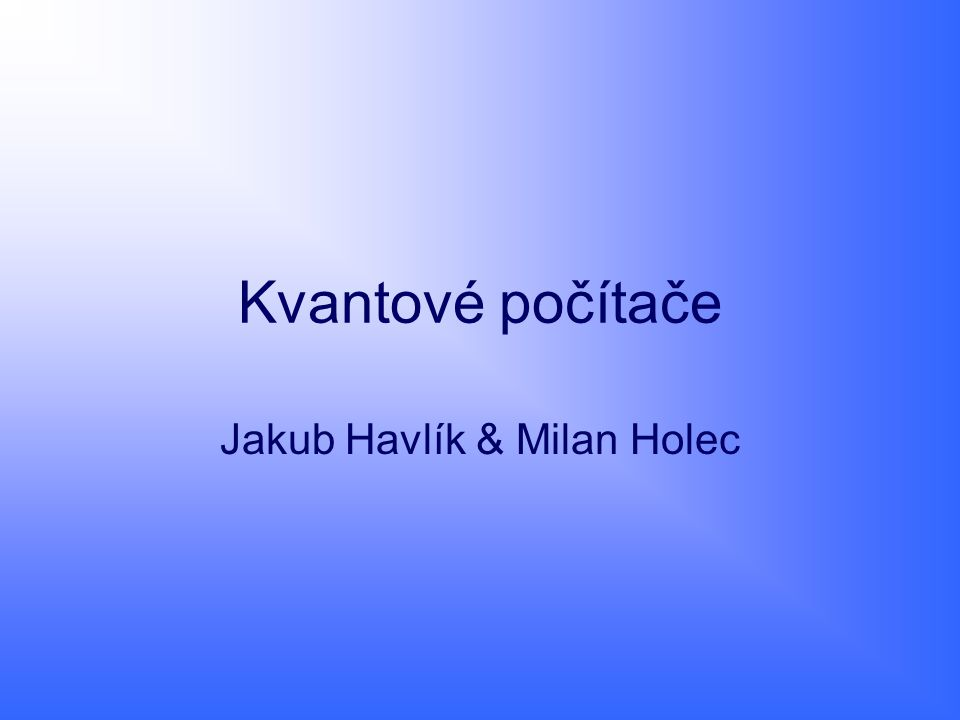 Jakub Havlík & Milan Holec
